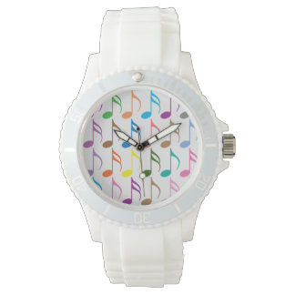 Colorful musical notes pattern watches
