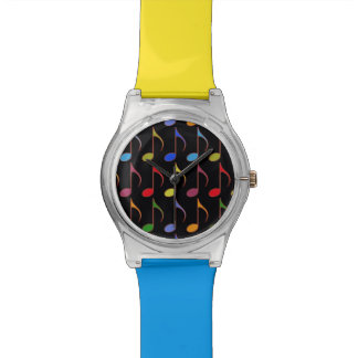 colorful musical notes watch