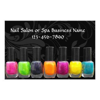 Colorful Nail Polish Bottles, Nail Salon 14 Cm X 21.5 Cm Flyer