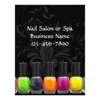 Colorful Nail Polish Bottles, Nail Salon 21.5 Cm X 28 Cm Flyer