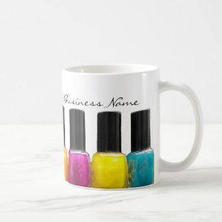 Colorful Nail Polish Bottles, Nail Salon Basic White Mug