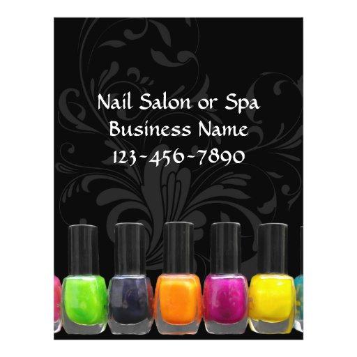 Colorful Nail Polish Bottles, Nail Salon Personalized Flyer