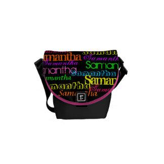 Colorful Name Collage Bag Messenger Bag