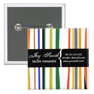 Colorful Name Tag 15 Cm Square Badge