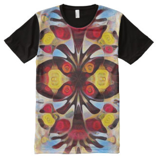 Colorful Native American Animal Totem Spirit Art All-Over Print T-Shirt
