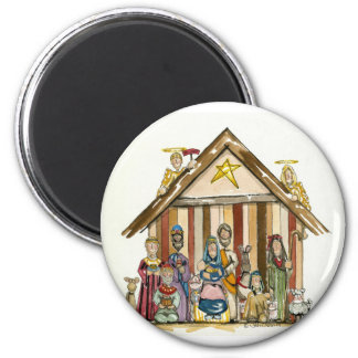 colorful nativity magnet