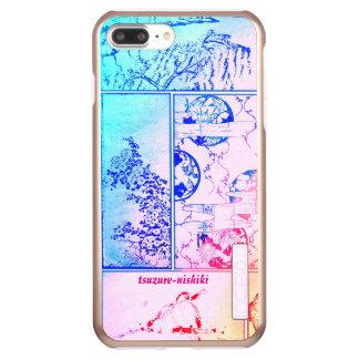 Colorful Nature Collage Asian Bird Flowers Squares Incipio DualPro Shine iPhone 8 Plus/7 Plus Case