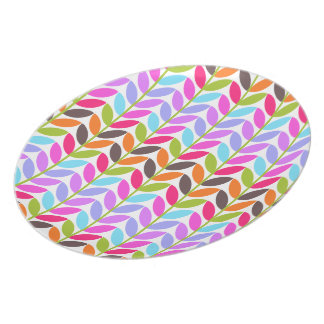 Colorful Nature Leaves Melamine Plate