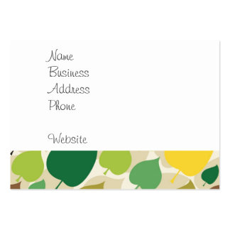 Colorful Nature Pattern Green Yellow Leaves Business Cards