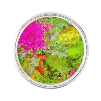 Colorful Nature Print Photo Lapel Pin