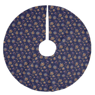 Colorful nautical pattern custom background brushed polyester tree skirt