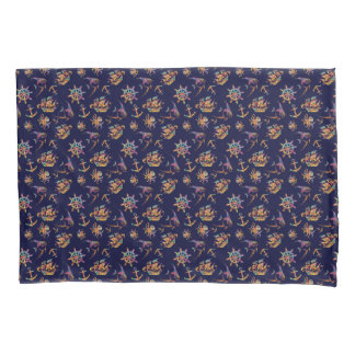 Colorful nautical pattern custom background pillowcase
