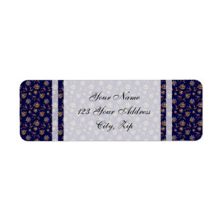 Colorful nautical pattern custom background return address label
