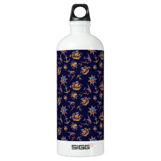 Colorful nautical pattern custom background SIGG traveller 1.0L water bottle