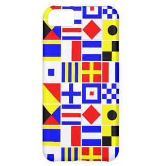 Colorful Nautical Signal Flags Pattern iPhone 5C Case