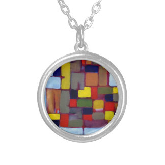 Colorful Necklace Geometric Abstract Unique Art