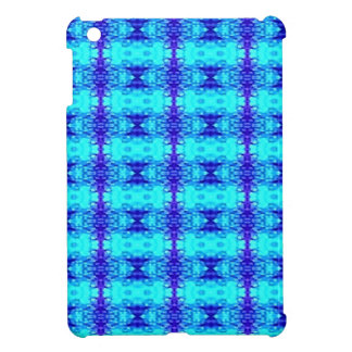 Colorful Neon Blue Royal Blue Tribal Pattern iPad Mini Cover