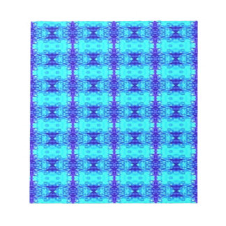 Colorful Neon Blue Royal Blue Tribal Pattern Notepad