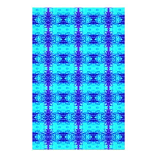Colorful Neon Blue Royal Blue Tribal Pattern Stationery