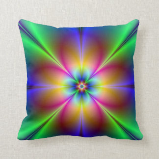 Colorful Neon Daisy Cushions
