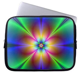 Colorful Neon Daisy Laptop Sleeve