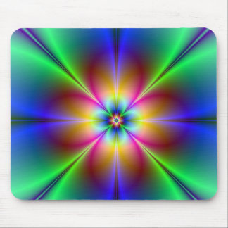 Colorful Neon Daisy Mouse Pad