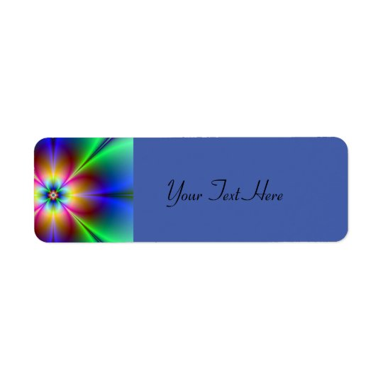 Colorful Neon Daisy Return Address Label