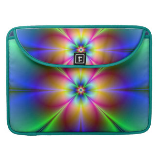 Colorful Neon Daisy Sleeves For MacBooks