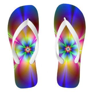 Colorful Neon Daisy Thongs