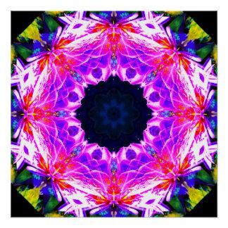 Colorful Neon Mandala Poster