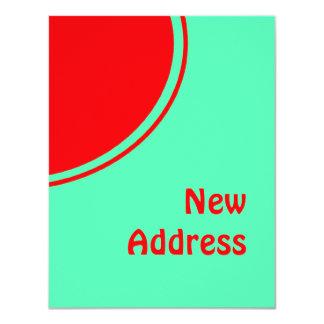 Colorful New Address 11 Cm X 14 Cm Invitation Card