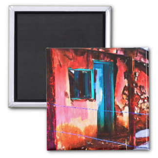 Colorful New Mexico Adobe Building Magnet