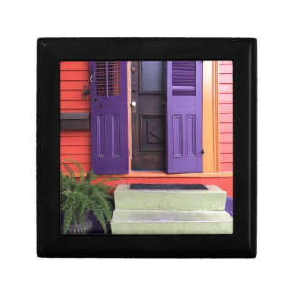 Colorful New Orleans Marigny House Small Square Gift Box