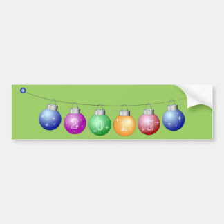 Colorful New year decorations Bumper Stickers