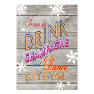 Colorful New Year s Time to Drink Champagne Invite