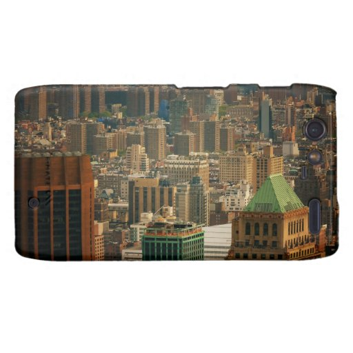Colorful New York City Rooftops Droid RAZR Case