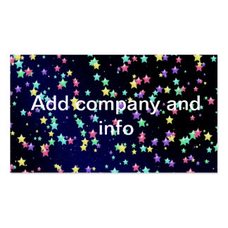 Colorful Night Stars Business Card Template