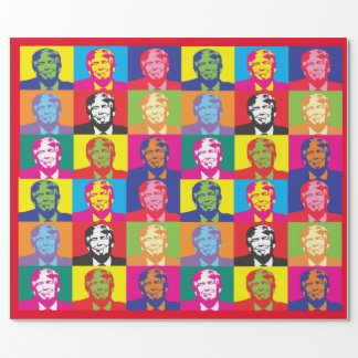 Colorful Novelty Donald Trump Wrapping Paper