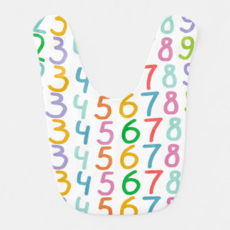 Colorful Numbers Pattern Baby Bibs