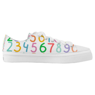 Colorful Numbers Pattern Low Tops