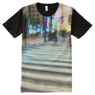 Colorful NYC Street Abstract All-Over Print T-Shirt