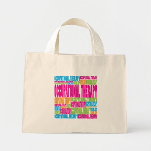 Colorful Occupational Therapy Canvas Bags