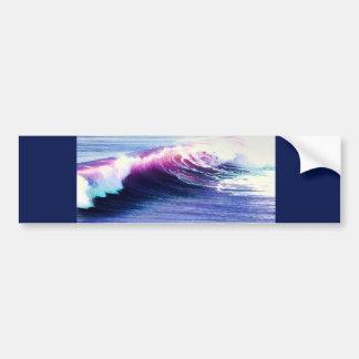 Colorful  Ocean Waves Car Bumper Sticker
