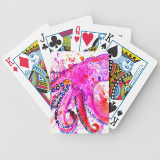 Colorful Octopus Art02 Bicycle Playing Cards