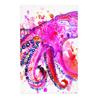 Colorful Octopus Art02 Stationery