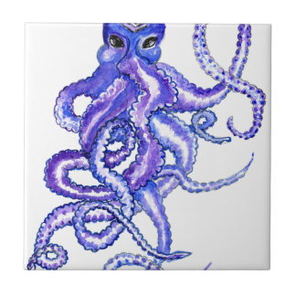 Colorful Octopus Art Ceramic Tile
