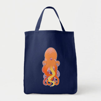 Colorful Octopus Grocery Tote Bag
