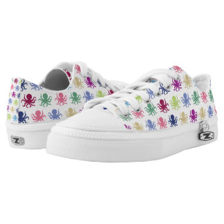 Colorful octopus pattern low tops