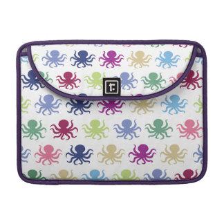 Colorful octopus pattern MacBook pro sleeve