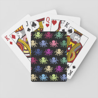 Colorful octopus pattern playing cards